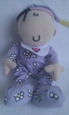 Adorable My 1st 'Baby Girl' Plush Doll in cute Babygro